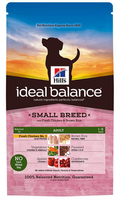 Hills Ideal Balance Canine Adult Small Breed with Fresh Chicken & Brown Rice 2kg