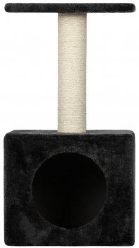 Arranhador Cat Tree Kitty Kennel & Tray - Black