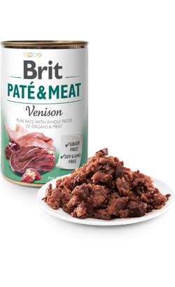 Brit Care Dog Paté & Meat Venison - Wet (Lata) - 6 x 400 g