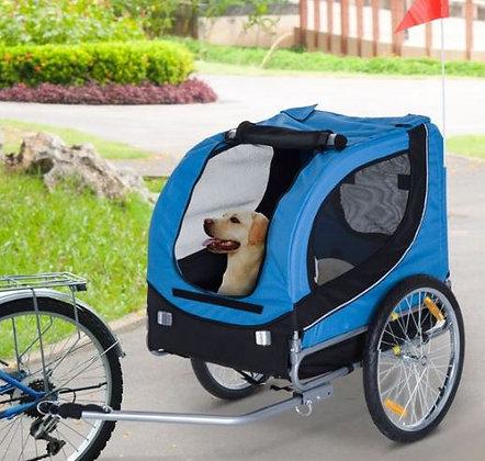 Atrelado para bicicleta - Azul e preto - 130 x 90 x 110 cm