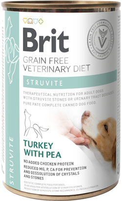 Brit Vet Diet Dog Struvite Grain-Free Turkey with Pea - Lata - 6 x 400 g