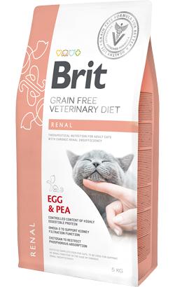 Brit Veterinary Diet Cat Renal Grain-Free Egg & Pea 400 g