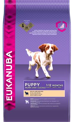 Eukanuba Puppy Small & Medium Breed Lamb & Rice 1 kg
