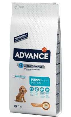 Advance Dog Medium Puppy Chicken & Rice 12 Kg