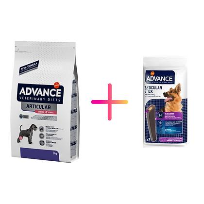 Advance Vet Dog Articular Senior +7 Years + Advance Dog Articular Care Stick