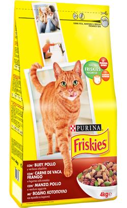 Friskies Gato Adulto Carne de Vaca, Frango e Legumes 2 kg