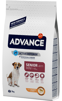 Advance Dog Mini Senior +8 Chicken & Rice 3 Kg