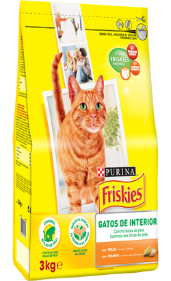 Friskies Gato Interior Frango, Ervilhas e Salsa 1.5 kg