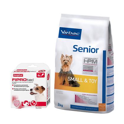 Virbac HPM Senior Dog S&T 7 kg + Beaphar Fiprotec Spot On Cão Pequeno 2-10 kg