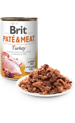 Brit Care Dog Paté & Meat Turkey - Wet (Lata) - 6 x 400 g