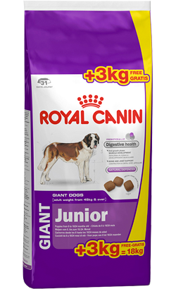 Royal Canin Giant Junior - Bónus 15 kg + 3 kg Oferta