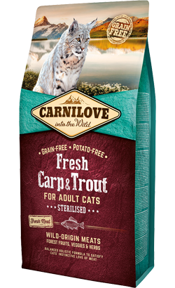 Carnilove Adult Cat Sterilised Fresh Carp & Trout 2 kg