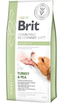 Brit Veterinary Diet Dog Diabetes Grain-Free Turkey & Pea 12 kg