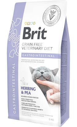 Brit Veterinary Diet Cat Gastrointestinal Grain-Free Herring & Pea 5 kg