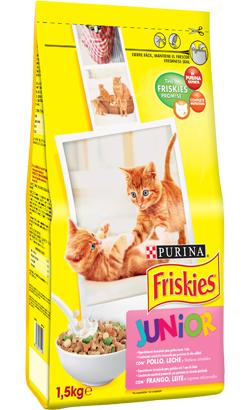 Friskies Gato Junior Frango, Leite e Legumes 1.5 kg