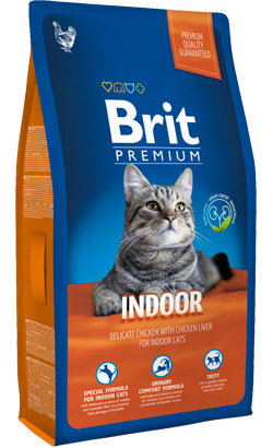 Brit Blue Cat Indoor Chicken with Chicken Liver 8 kg