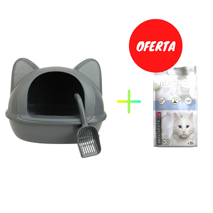 Wc Big Cat Head + pá + Cominter Magic Litter Ultra White 5 L