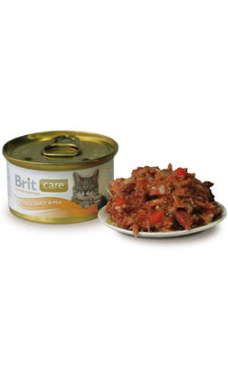 Brit Care Cat Wet - Tuna, Carrot & Pea - 6 x 80 g