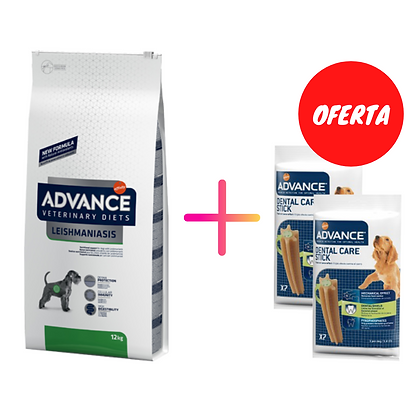 Avance Vet Dog Leishmaniose 12 kg + Oferta 2 x Advance Snack Dental