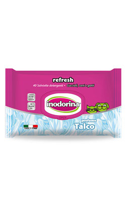 Inodorina Toalhetes Refresh Talco 40 Toalhetes