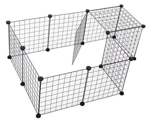 Jaula metálica para animais pequenos - 106 x 73 x 36 cm