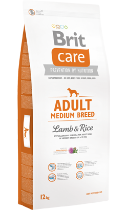 Brit Care Dog Adult Medium Breed Lamb & Rice 3 kg