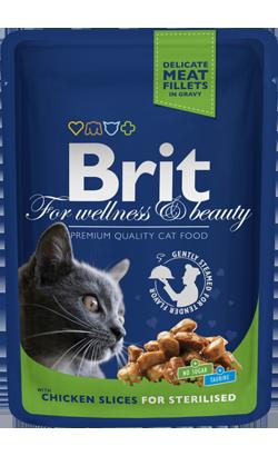 Brit Blue Cat Sterilised Wet - Chicken Slices - 6 x 100 g