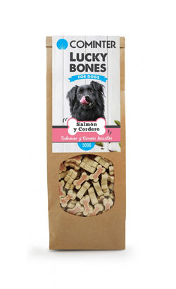 Cominter Dog Snack Lucky Bones Salmon and Lamb 300 g