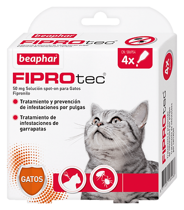 Beaphar Fiprotec Spot On Gato - 4 Pipetas