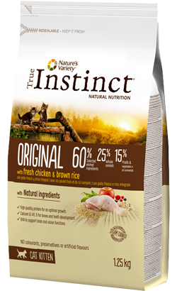 True Instinct Cat Kitten Original Chicken & Brown Rice 1,25 kg