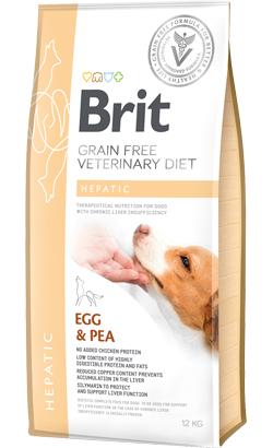 Brit Veterinary Diet Dog Hepatic Grain-Free Egg & Pea  2 kg