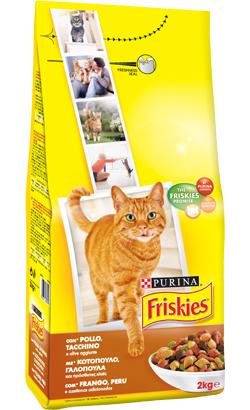 Friskies Gato Adulto Frango, Peru e Azeitonas 2 kg