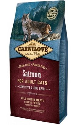 Carnilove Cat Adult Sensitive & Long Hair Salmon 6 kg