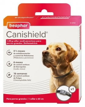 Colar Anti-parasitário Canishield Cão 65 cm