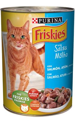 Friskies Gato Adulto Pedaços em molho com Salmão, Atum e Legumes 24 x 400 g