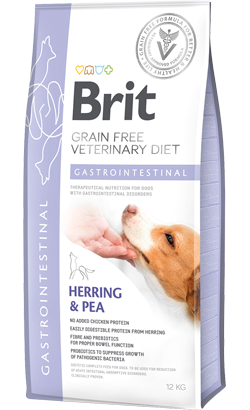 Brit Veterinary Diet Dog Gastrointestinal Grain-Free Herring & Pea 12 kg
