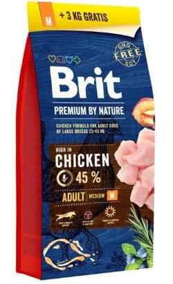 Brit Blue Nature Adult Medium Dog - Bónus   15 kg + 3 kg Oferta