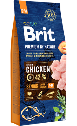 Brit Blue Nature Senior Small & Medium Dog 15 kg