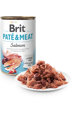 Brit Care Dog Paté & Meat Salmon - Wet (Lata) - 6 x 400 g