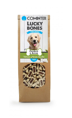 Cominter Dog Snack Lucky Bones Lamb and Rice 300 g