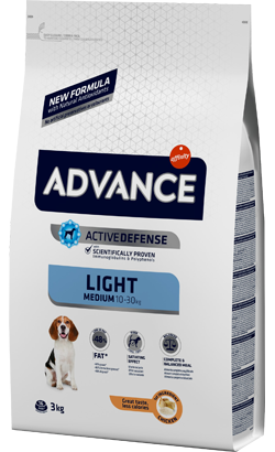 Advance Dog Medium Light Chicken & Rice 12 Kg