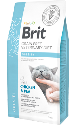 Brit Veterinary Diet Cat Obesity Grain-Free Chicken & Pea 400 g