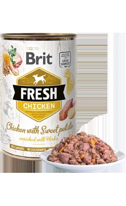 Brit Fresh Dog Chicken with Sweet Potato - Wet (Lata) | 6 x 400 g