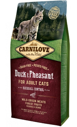 Carnilove Cat Adult Hairball Control Duck & Pheasant 400 g