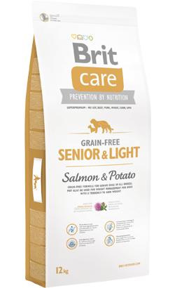 Brit Care Grain-free Dog Senior & Light Salmon & Potato 12 kg