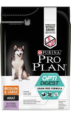 Pro Plan Dog Grain-Free Medium & Large Adult Sensitive Digestion Turkey 2,5 kg