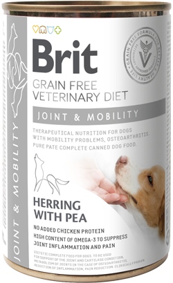 Brit Vet Diet Dog Joint & Mobility Grain-Free Herring with Pea - Lata - 6 x 400g