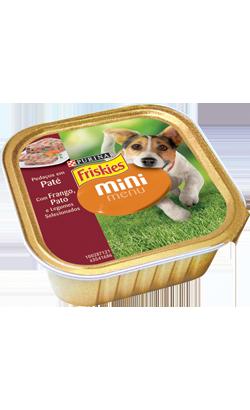 Friskies Cão Paté Mini Menu Frango Pato e Legumes 6 x 150 g