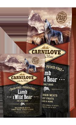 Carnilove Lamb & Wild Boar Adult Dog 1,5 kg