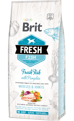 Brit Fresh Dog Adult Large Breed with Fish & Pumpkin 12 kg